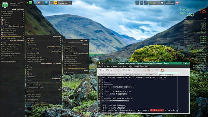 Mabox_custom_sidepanels_commands_edit